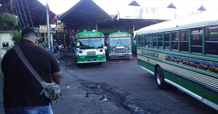 Ruta de buses 202 en paro de labores por supuestas amenazas de pandillas