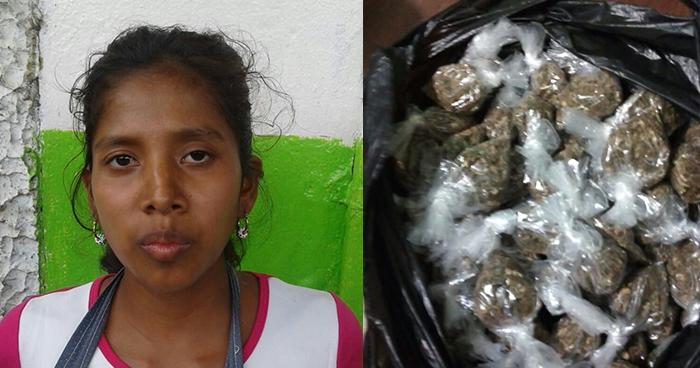 Capturan en el mercado de Ahuachapán a distribuidora de marihuana