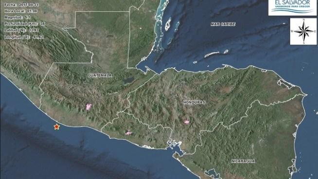 Sismo registrado en Guatemala fue percibido en territorio salvadoreño