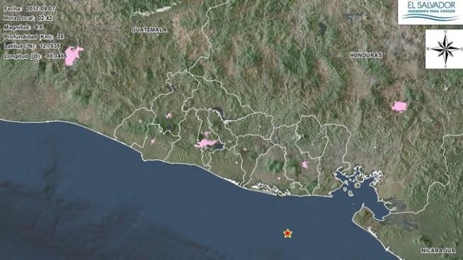 Dos fuertes sismos sacudieron el territorio salvadoreño en las últimas horas