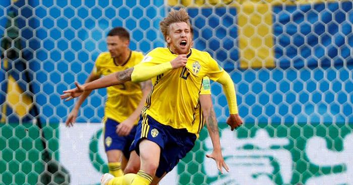 Suecia se clasifica a los cuartos de final eliminando a Suiza