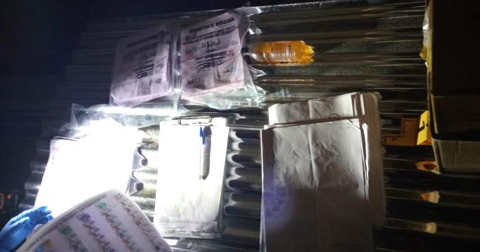 Encuentran material electoral del TSE en vivienda de San José Guayabal, Cuscatlán