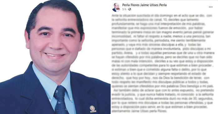 """Militante de ARENA asegura que palabras a periodista de Canal 10 fueron """"mal interpretadas"""""""
