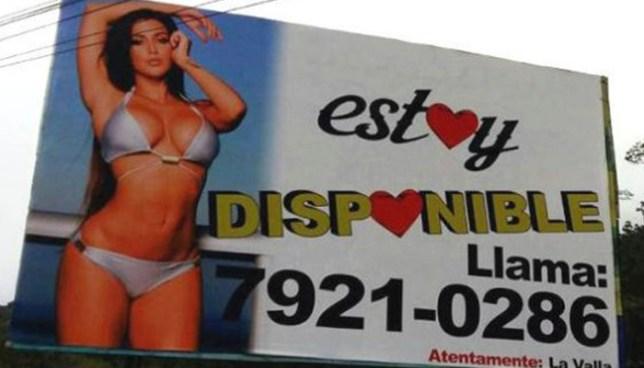 Sujeto que colgó vallas publicitarias con una mujer semidesnuda deberá pagar $6 mil dólares