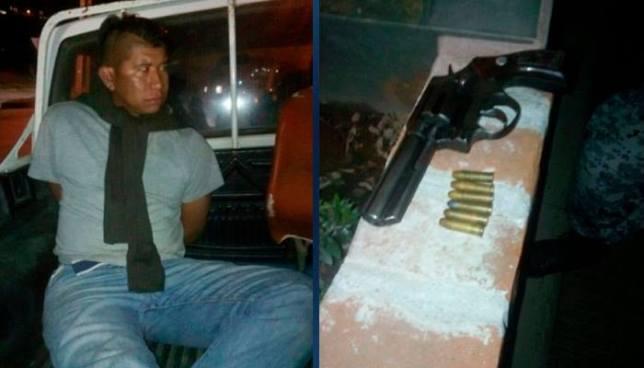"""""""A mi no me van a desarmar"""", dijo vigilante ebrio cuando se resistía a ser capturado"""