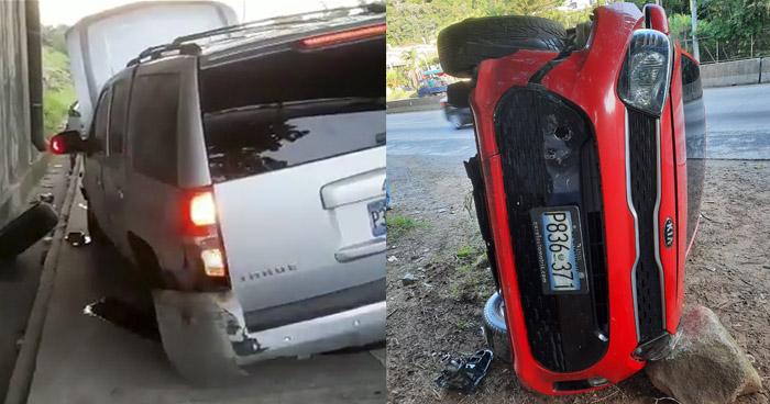 Conductores abandonan vehículos tras accidentarse en diferentes puntos