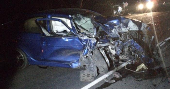 Un muerto y un conductor ebrio lesionado tras choque en Apastepeque, San Vicente