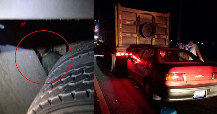 Dos personas murieron luego que vehículo los impactara mientras reparaban un camión sobre carretera de Oro
