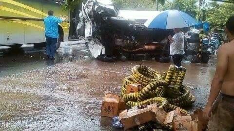 Tres personas lesionadas en accidente de tránsito en Concepción Batres