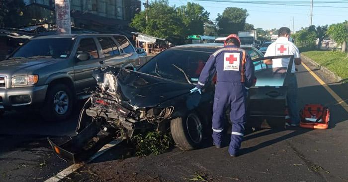 Un lesionado tras accidente de tránsito en San Martín