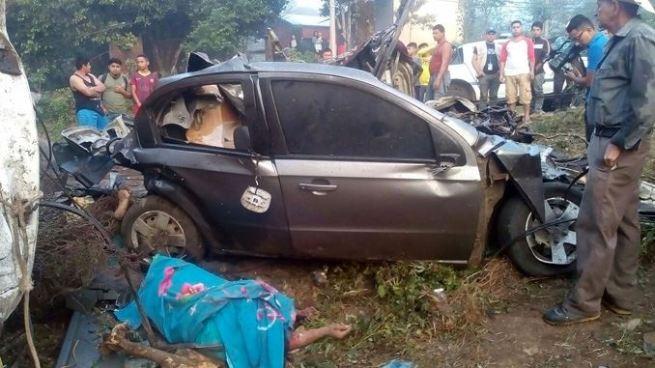 Trágico accidente en Meanguera deja al menos 6 personas fallecidas y 2 lesionados