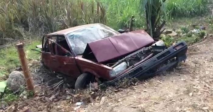 Un menor de edad entre los lesionados del accidente en carretera de Ahuachapán