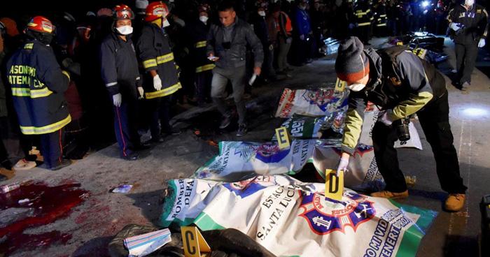 Accidente en Guatemala: 18 muertos al ser atropellados por un camión