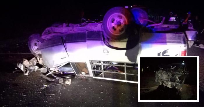 Tres fallecidos y cinco lesionados dejo grave accidente de transito en la Ruta Militar en Morazán