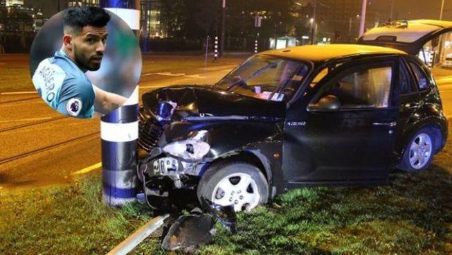 Kun Agüero sufre un accidente de tránsito después de un concierto de Maluma en Holanda