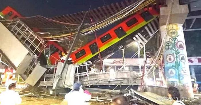 Al menos 23 muertos y 70 heridos al desplomarse de metro en la ciudad de México
