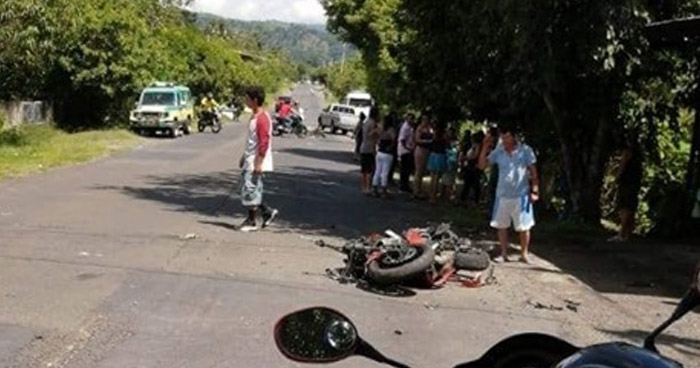 Acompañante de motociclista muere en accidente en carretera de Cabañas