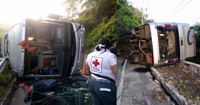 Al menos 20 lesionados deja accidente de autobús de la ruta 304 en Usulután