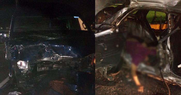 Un fallecido tras accidente de transito en el desvió a San Juan Opico, La Libertad