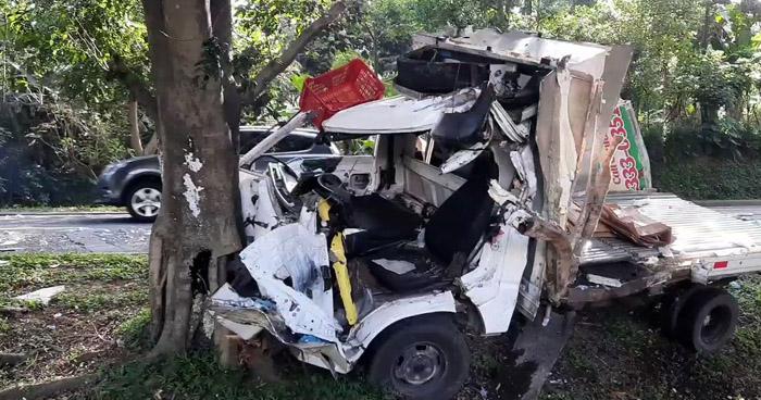 Dos heridos tras fuerte accidente de tránsito registrado en carretera Panamericana