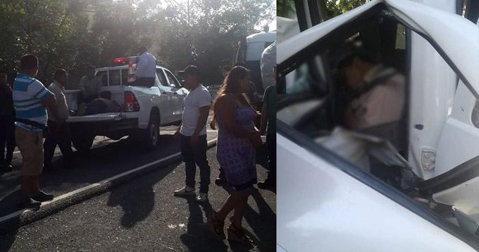 Dos muertos y un lesionado tras grave accidente de tránsito en San Pedro Perulapán