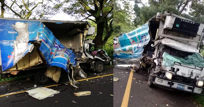 Un fallecido y un lesionado tras aparatoso accidente de tránsito en carretera a Santa Ana