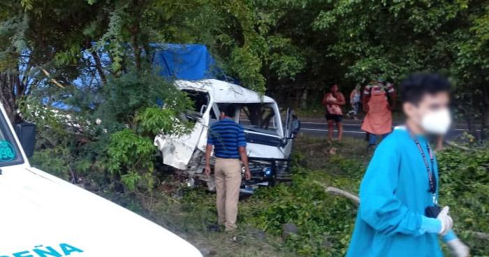 Un lesionado tras accidente de tránsito en carretera a Quezaltepeque