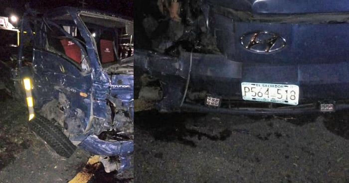 Dirigente del CD muere en accidente de tránsito en carretera Panamericana, San Vicente