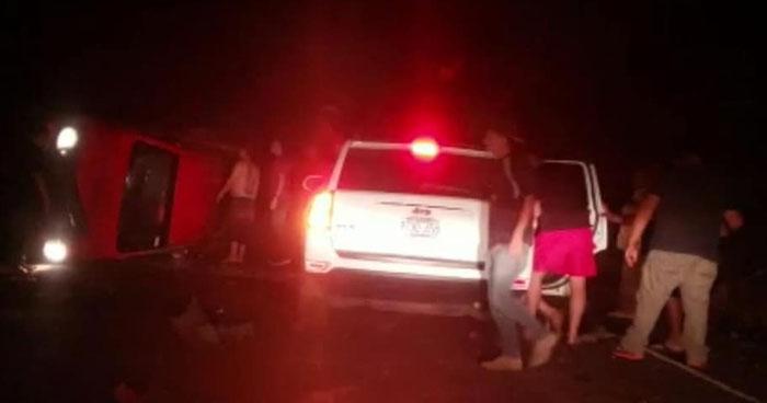 Un muerto y tres lesionados tras accidente de tránsito sobre carretera de San Miguel