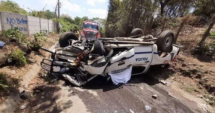 Policía fallecido y dos lesionados tras accidente San Miguel
