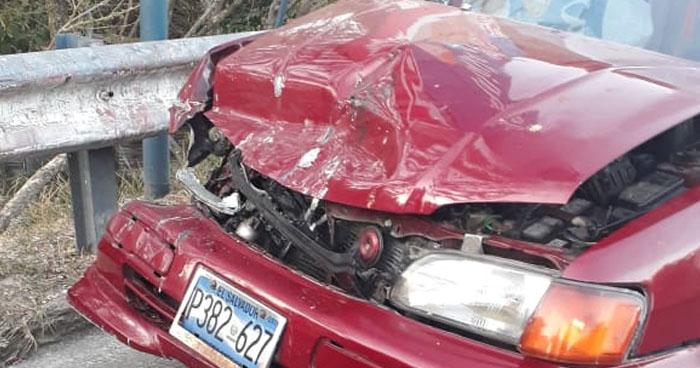 Un fallecido tras accidente en carretera de San Rafael Cedros, Cuscatlán