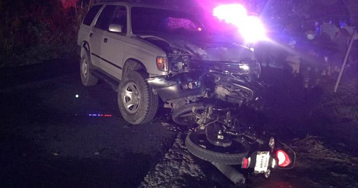 Dos lesionados tras fuerte accidente en carretera a Suchitoto