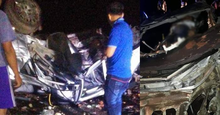 Un hombre murio tras grave accidente de transito en la carretera Litoral, en Usulután