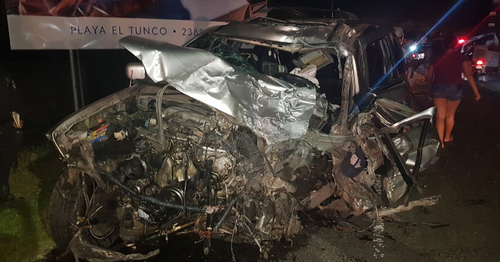 Un muerto tras grave accidente de transito en el puerto de La Libertad