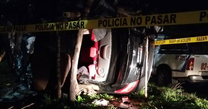 Un fallecido y otro lesionado tras accidente en carretera a Santa Ana