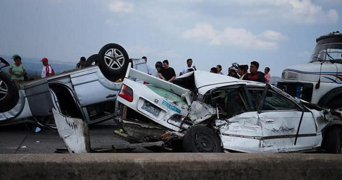 Registran 7 fallecidos y 52 lesionados en 70 accidentes de tránsito en primer día de vacaciones