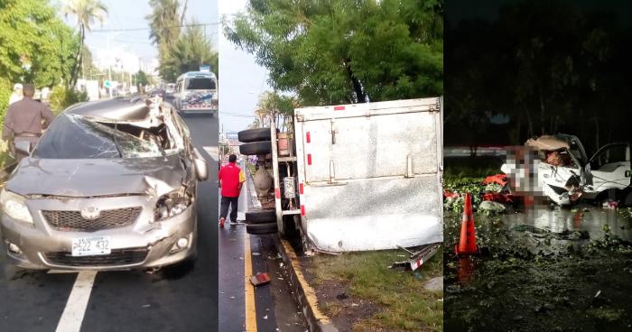 Dos accidentes de transito esta madrugada dejan al menos 1 fallecido