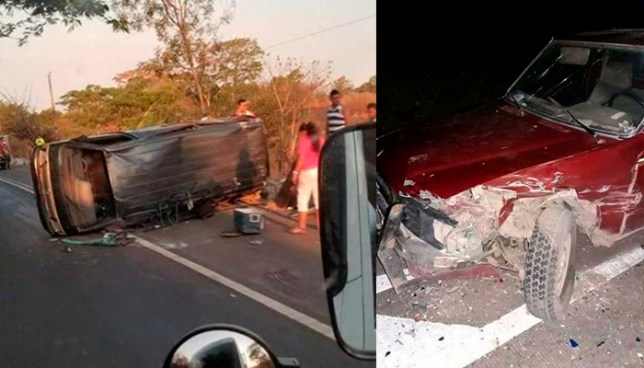 Un muerto y ocho lesionados tras varios accidentes de tránsito en diferentes puntos del país