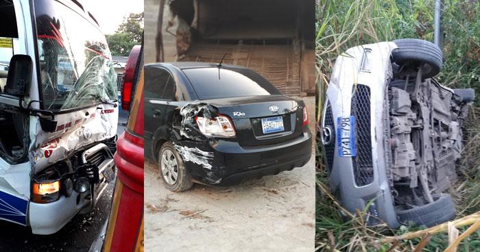 Cuatro accidentes de tránsito se han registrado esta mañana dejando varios lesionados