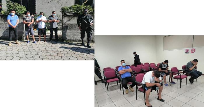 Detención provisional contra agentes de la PNC acusados a desapariciones y homicidios