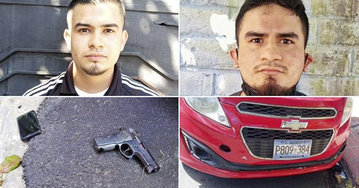 Capturados por agresión contra agentes de la PNC en San Salvador