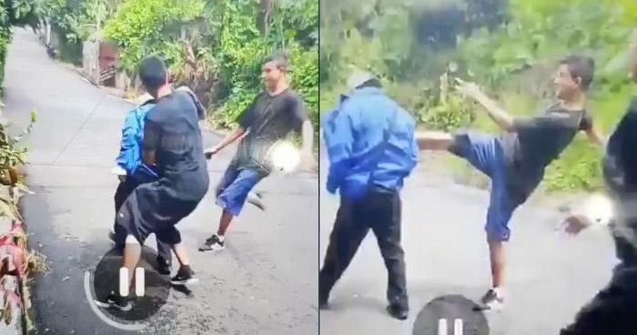 VIDEO | Pandilleros de la MS agreden a un anciano en La Libertad