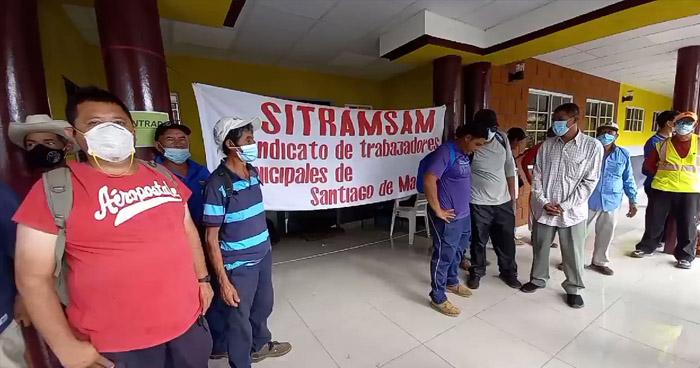 Cierran instalaciones de alcaldía de Santiago de María por falta de pago