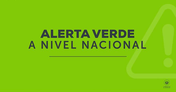 Alerta Verde a nivel nacional por lluvias con actividad eléctrica