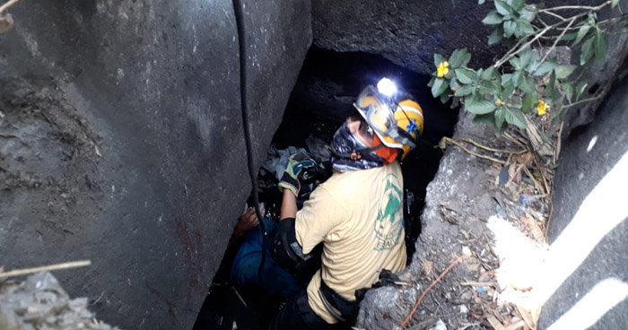 Anciano pasó 16 horas dentro de una alcantarilla en carretera Troncal del Norte