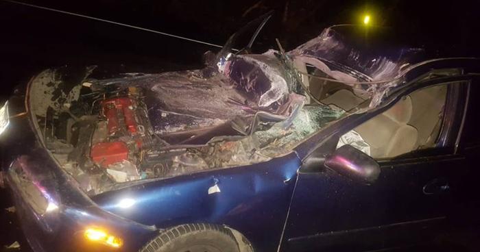 Cinco personas resultaron lesionadas tras accidente de transito en Apastepeque, San Vicente