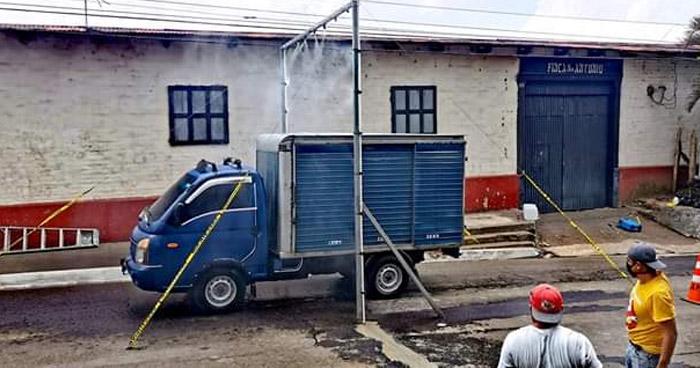 Instalan arcos sanitizadores para prevenir propagación del COVID-19 en distintos puntos del país