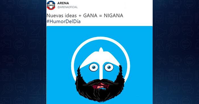 """ARENA """"trollea"""" a GANA tras la presentación de su nueva bandera de cara a las presidenciales"""