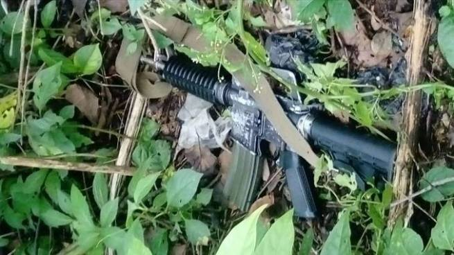 Un pandillero muerto y armas incautadas tras enfrentamiento entre San Bartolomé Perulapía y San Martín