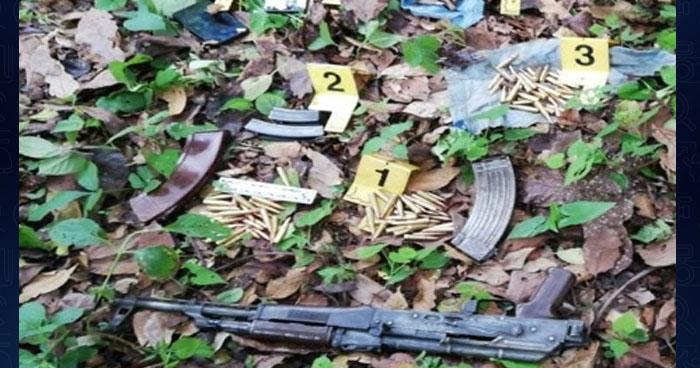 Pandilleros abandonaron arma y municiones al huir de policías en Cabañas